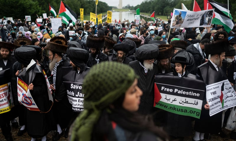 A pro-Palestine march in Washington is calling for an end to US funding to Israel