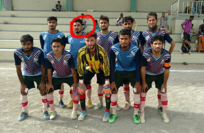 A 22-year-old footballer died during a game.