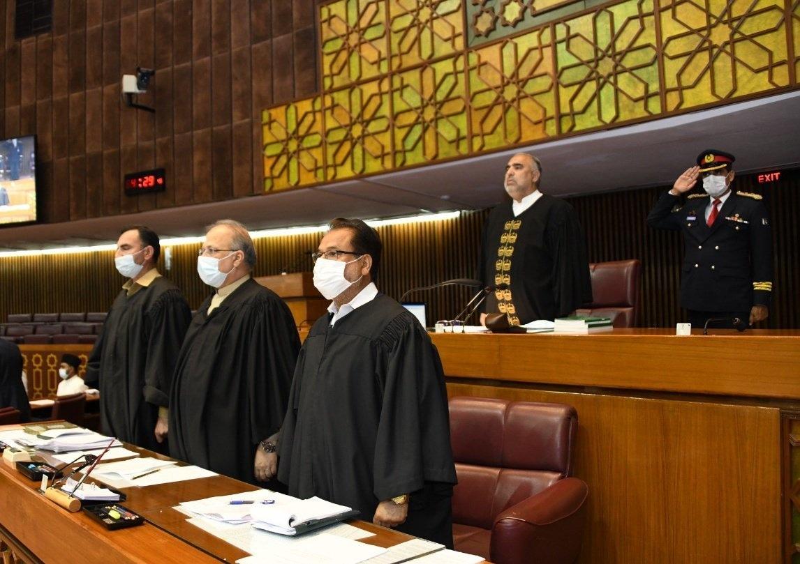 Assembly Speaker has banned seven lawmakers for disorderly behavior