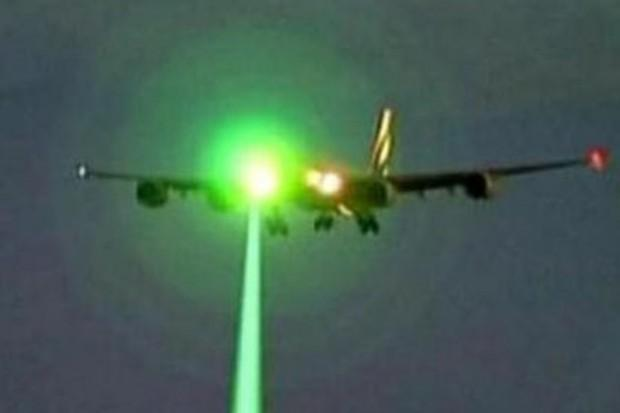 CAA is taking action against the projection of laser lights on airplane