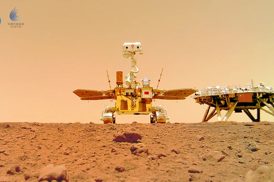 Listen the sound made by the Zhurong Rover on Mars