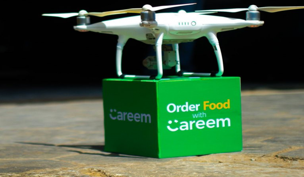 The Careem flying drone to testing a food delivery in Pakistan
