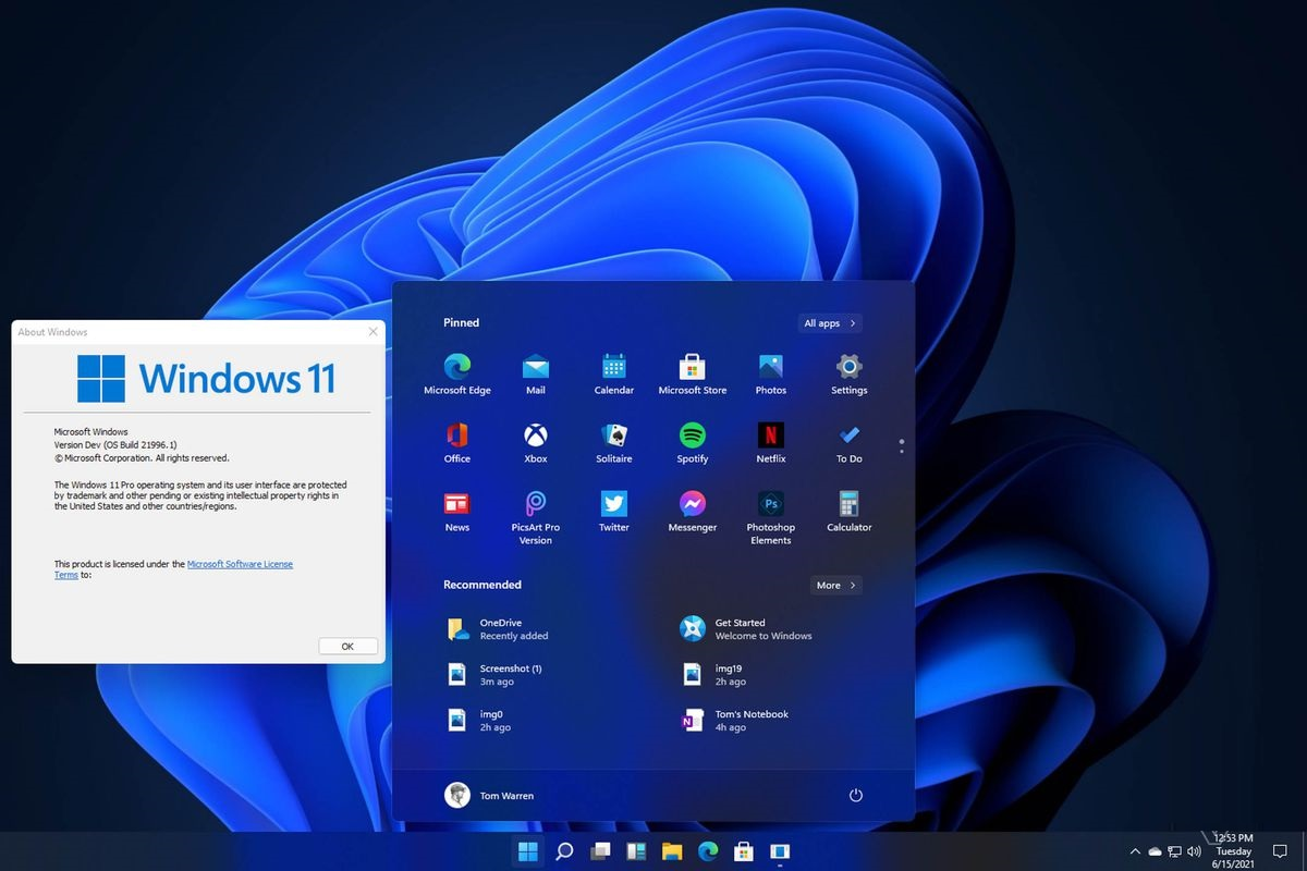 Windows 11 leak reveals a new Start menu, User Interface, and other features