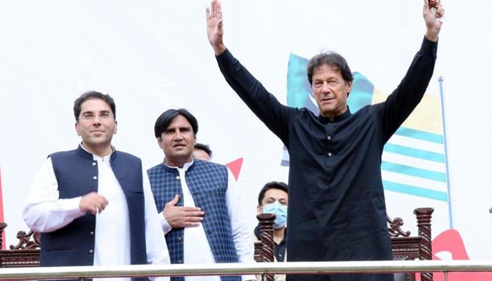 """Prime Minister Imran Khan expresses gratitude to the people for """"putting their trust in the PTI."""