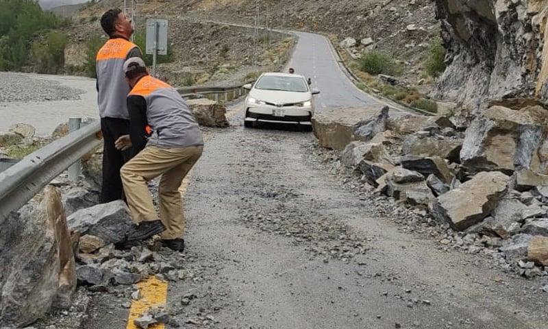 After three days, traffic on the Karakoram Highway has resumed