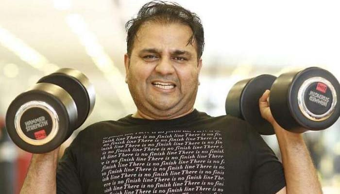 Fawad Chaudhry showing off his boxing skills