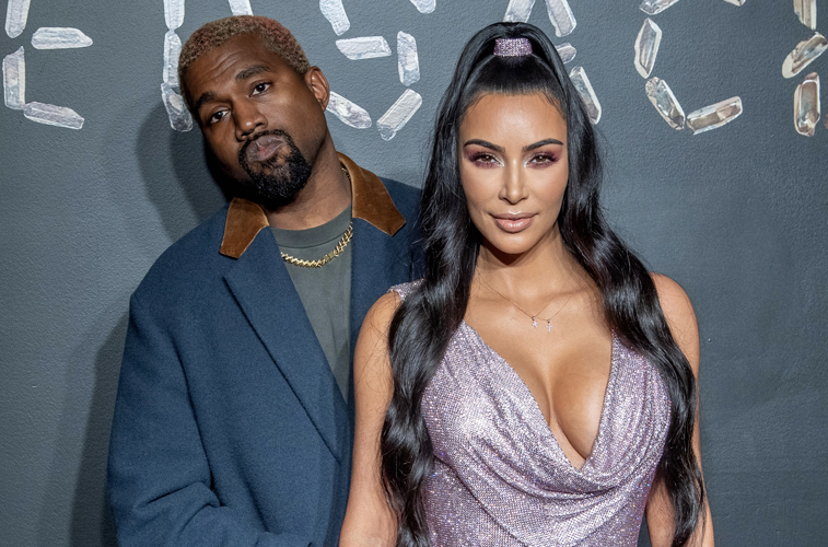 Kim Kardashian supportsKanye West by attending his album release