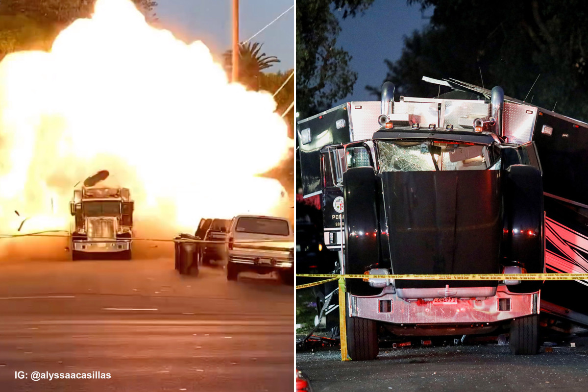 LAPD bomb disposal truck explodes, 17 people injured