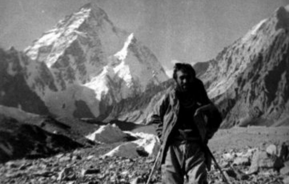 Ashraf Aman photographed at K2 Base Camp in 1977 — File/Photo Newsline.pk