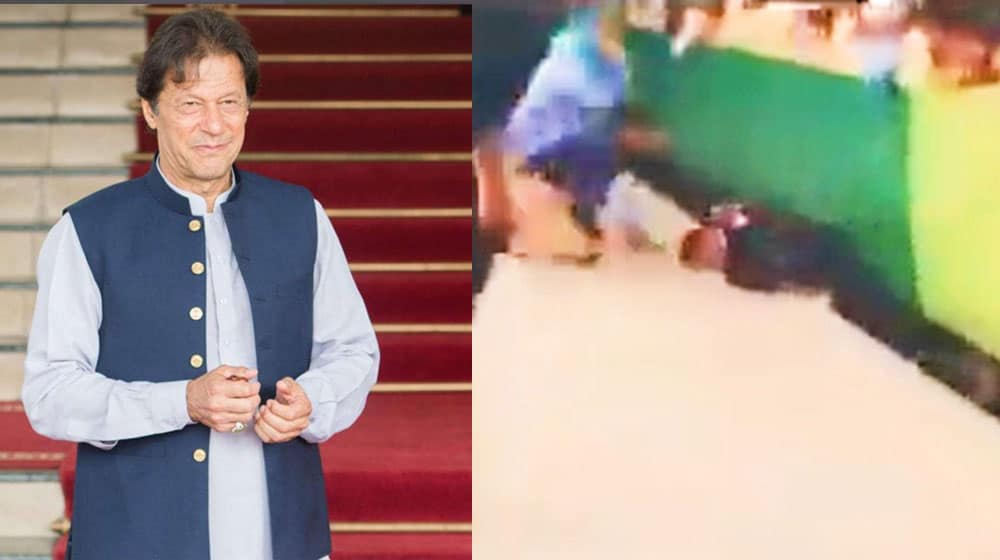 PM Imran honors a police officer for saving a guy from being run over by a train