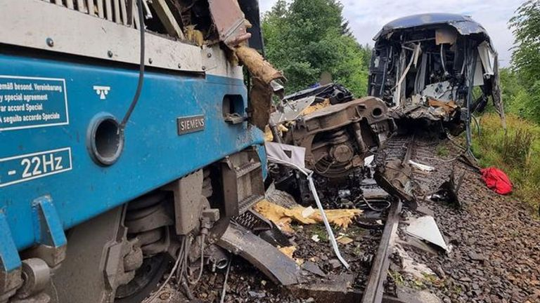 More than 40 people were injured in the collision near the western Czech town of Domazlice