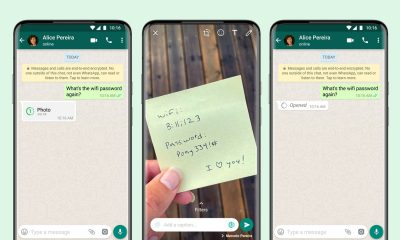 """WhatsApp new """"view once"""" feature, available for both video andphotos"""