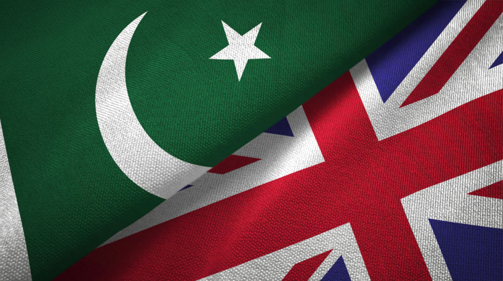 UK and Pakistan Flags