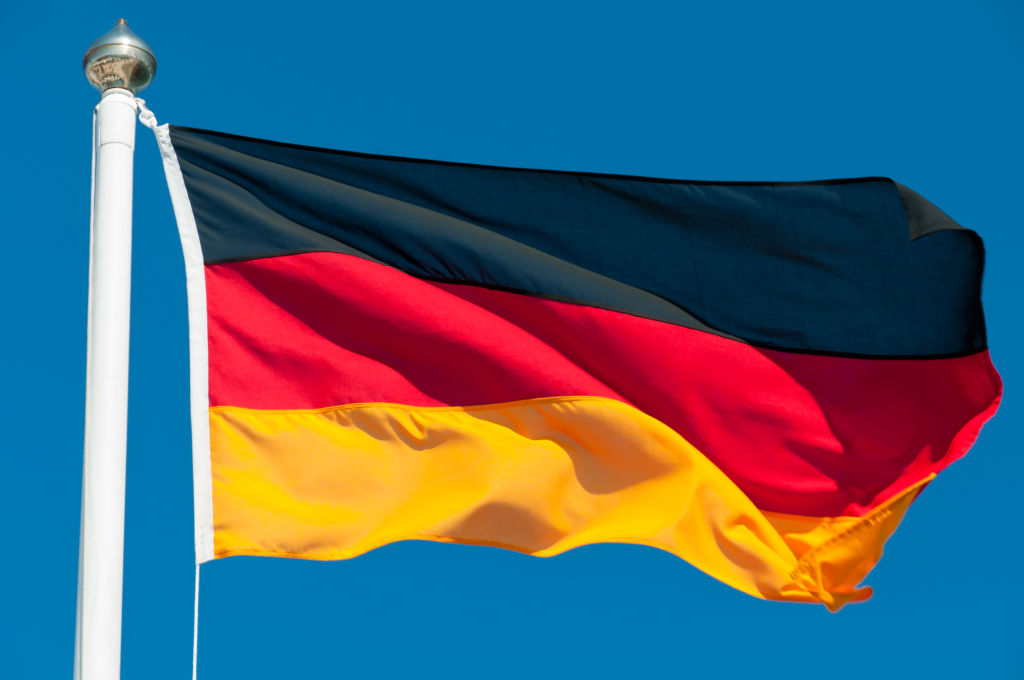 National flag of Germany.